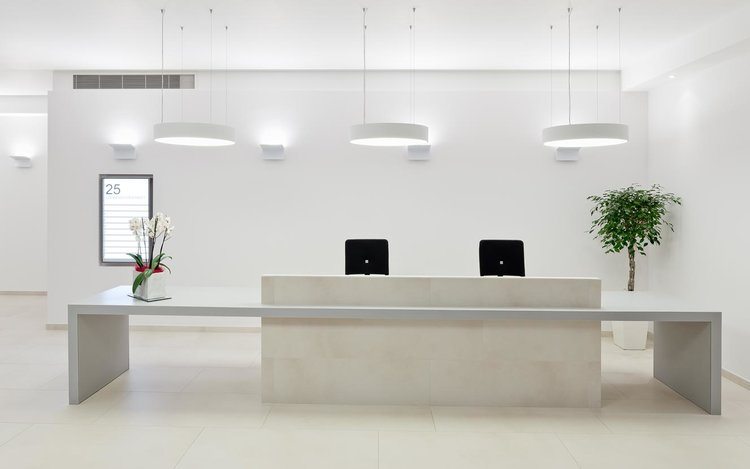 corian reception desk for office